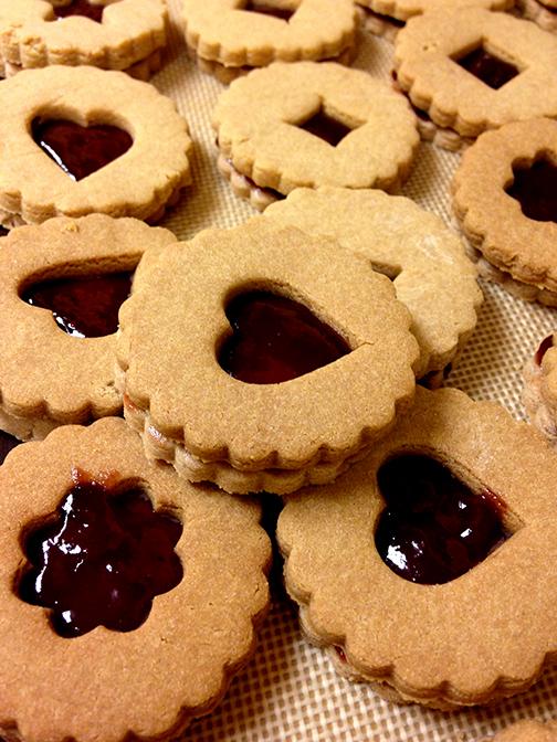 gluten sugar dairy free linzer cookie