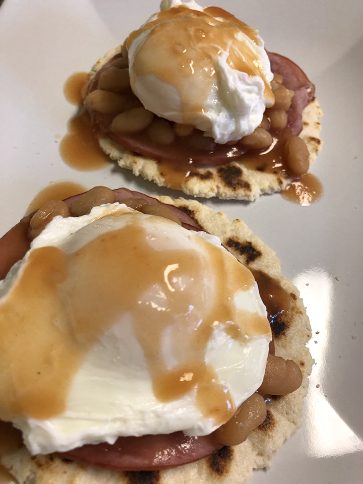 not quite eggs benedict