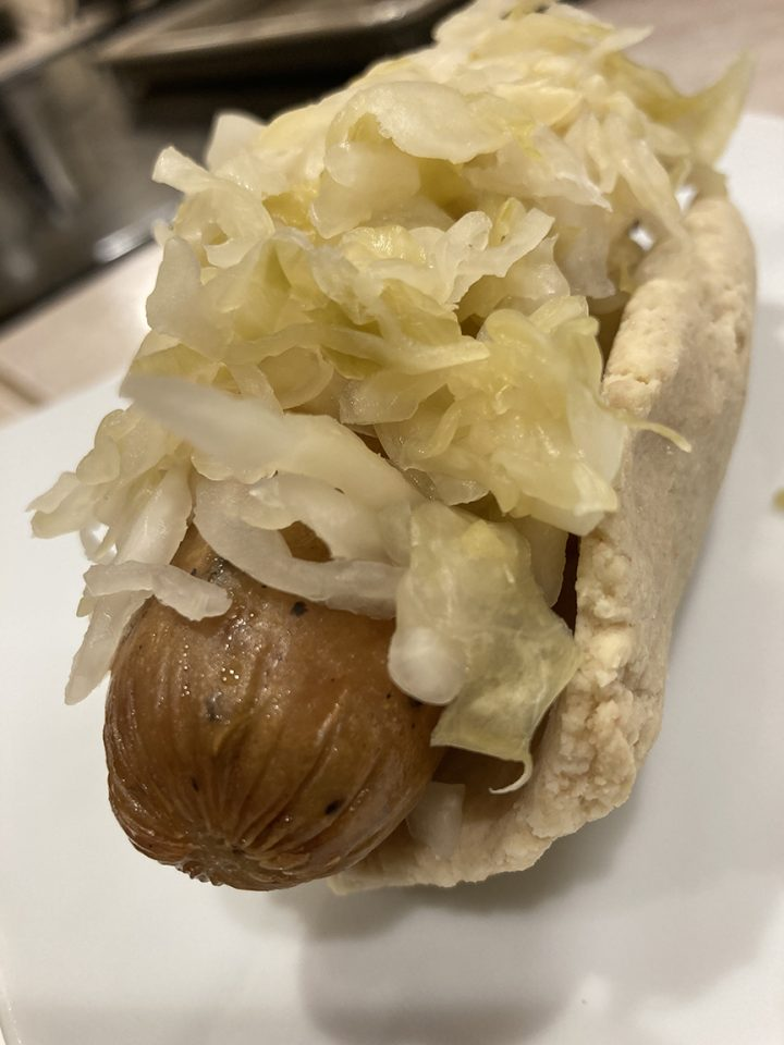 chicken sausage and kraut